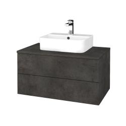 Dřevojas - Koupelnová skříňka MODULE SZZ2 80 - D16  Beton tmavý / D16 Beton tmavý (297978)