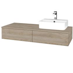 Dřevojas - Koupelnová skříňka MODULE SZZ2 120 - D17 Colorado / D17 Colorado / Levé (299866)