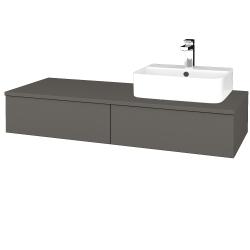 Dřevojas - Koupelnová skříňka MODULE SZZ2 120 - N06 Lava / N06 Lava / Pravé (300401P)