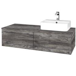 Dřevojas - Koupelnová skříňka MODULE SZZ12 120 - D10 Borovice Jackson / D10 Borovice Jackson / Levé (300777)