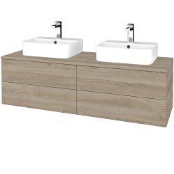 Dřevojas - Koupelnová skříňka MODULE SZZ4 140 - D17 Colorado / D17 Colorado (303617)