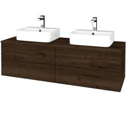 Dřevojas - Koupelnová skříňka MODULE SZZ4 140 - D21 Tobacco / D21 Tobacco (303945)