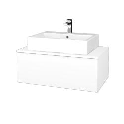 Dřevojas - Koupelnová skříňka MODULE SZZ1 80 - M01 Bílá mat / M01 Bílá mat (311612)