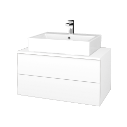 Dřevojas - Koupelnová skříňka MODULE SZZ2 80 - M01 Bílá mat / M01 Bílá mat (312084)