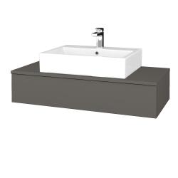 Dřevojas - Koupelnová skříňka MODULE SZZ 100 - N06 Lava / N06 Lava (312619)
