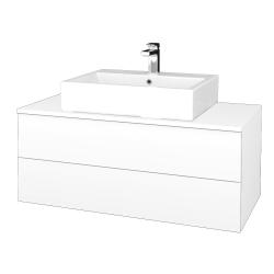 Dřevojas - Koupelnová skříňka MODULE SZZ2 100 - M01 Bílá mat / M01 Bílá mat (313494)