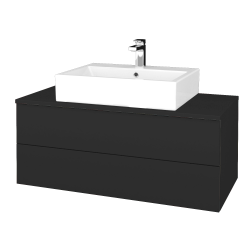 Dřevojas - Koupelnová skříňka MODULE SZZ2 100 - N03 Graphite / N03 Graphite (313548)