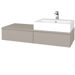 Dřevojas - Koupelnová skříňka MODULE SZZ2 120 - N07 Stone / N07 Stone / Levé (314033)