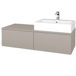 Dřevojas - Koupelnová skříňka MODULE SZZ12 120 - N07 Stone / N07 Stone / Levé (314972)