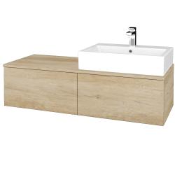 Dřevojas - Koupelnová skříňka MODULE SZZ12 120 - D15 Nebraska / D15 Nebraska / Pravé (315344P)