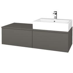 Dřevojas - Koupelnová skříňka MODULE SZZ12 120 - N06 Lava / N06 Lava / Pravé (315436P)