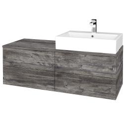 Dřevojas - Koupelnová skříňka MODULE SZZ4 120 - D10 Borovice Jackson / D10 Borovice Jackson / Levé (315801)