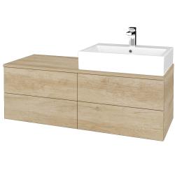 Dřevojas - Koupelnová skříňka MODULE SZZ4 120 - D15 Nebraska / D15 Nebraska / Pravé (316280P)
