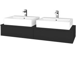 Dřevojas - Koupelnová skříňka MODULE SZZ2 140 - N03 Graphite / N03 Graphite (316839)