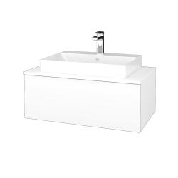 Dřevojas - Koupelnová skříňka MODULE SZZ1 80 - M01 Bílá mat / M01 Bílá mat (333270)
