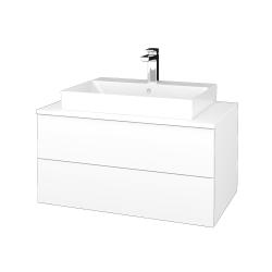 Dřevojas - Koupelnová skříňka MODULE SZZ2 80 - M01 Bílá mat / M01 Bílá mat (333744)