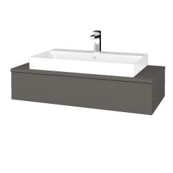 Dřevojas - Koupelnová skříňka MODULE SZZ 100 - N06 Lava / N06 Lava (334277)