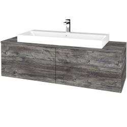 Dřevojas - Koupelnová skříňka MODULE SZZ4 140 - D10 Borovice Jackson / D10 Borovice Jackson (338183)