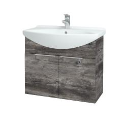 Dřevojas - Koupelnová skříň TAKE IT SZD2 75 - D10 Borovice Jackson / Úchytka T05 / D10 Borovice Jackson (206000F)