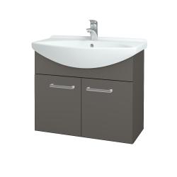 Dřevojas - Koupelnová skříň TAKE IT SZD2 75 - N06 Lava / Úchytka T03 / N06 Lava (206130C)