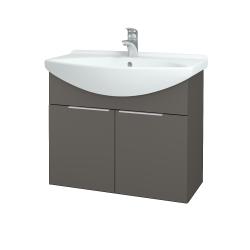 Dřevojas - Koupelnová skříň TAKE IT SZD2 75 - N06 Lava / Úchytka T05 / N06 Lava (206130F)