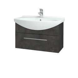 Dřevojas - Koupelnová skříň TAKE IT SZZ 75 - D16  Beton tmavý / Úchytka T02 / D16 Beton tmavý (206826B)