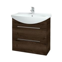 Dřevojas - Koupelnová skříň TAKE IT SZZ2 75 - D21 Tobacco / Úchytka T05 / D21 Tobacco (279158F)
