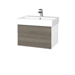 Dřevojas - Koupelnová skříň VARIANTE SZZ 60 - N01 Bílá lesk / D03 Cafe (259808)