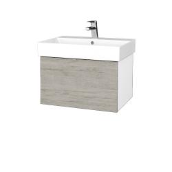 Dřevojas - Koupelnová skříň VARIANTE SZZ 60 - N01 Bílá lesk / D05 Oregon (259822)