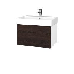 Dřevojas - Koupelnová skříň VARIANTE SZZ 60 - N01 Bílá lesk / D08 Wenge (259846)