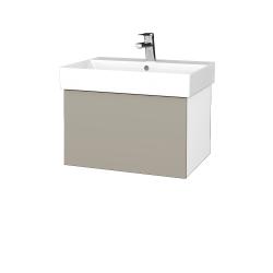 Dřevojas - Koupelnová skříň VARIANTE SZZ 60 - N01 Bílá lesk / L04 Béžová vysoký lesk (259945)