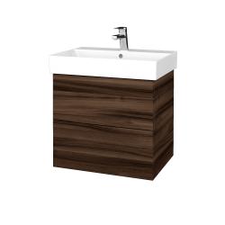 Dřevojas - Koupelnová skříň VARIANTE SZZ2 60 - D06 Ořech / D06 Ořech (260101)