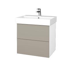 Dřevojas - Koupelnová skříň VARIANTE SZZ2 60 - N01 Bílá lesk / L04 Béžová vysoký lesk (260415)