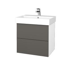 Dřevojas - Koupelnová skříň VARIANTE SZZ2 60 - N01 Bílá lesk / N06 Lava (260439)