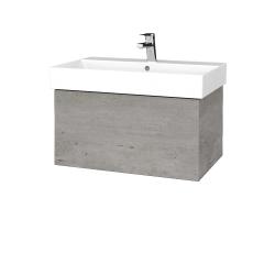 Dřevojas - Koupelnová skříň VARIANTE SZZ 70 - D01 Beton / D01 Beton (260521)