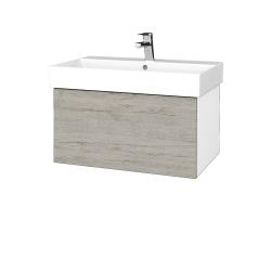 Dřevojas - Koupelnová skříň VARIANTE SZZ 70 - N01 Bílá lesk / D05 Oregon (260767)