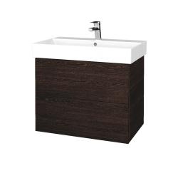 Dřevojas - Koupelnová skříň VARIANTE SZZ2 70 - D08 Wenge / D08 Wenge (261054)