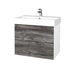 Dřevojas - Koupelnová skříň VARIANTE SZZ2 70 - N01 Bílá lesk / D10 Borovice Jackson (261276)