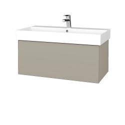 Dřevojas - Koupelnová skříň VARIANTE SZZ 85 - L04 Béžová vysoký lesk / L04 Béžová vysoký lesk (261627)