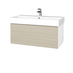 Dřevojas - Koupelnová skříň VARIANTE SZZ 85 - N01 Bílá lesk / D04 Dub (261696)
