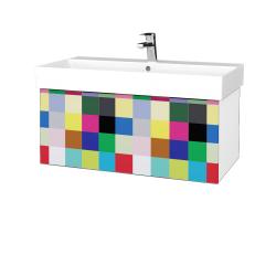 Dřevojas - Koupelnová skříň VARIANTE SZZ 85 - N01 Bílá lesk / IND Individual (261801)