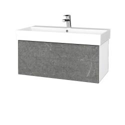 Dřevojas - Koupelnová skříň VARIANTE SZZ 85 - N01 Bílá lesk / D20 Galaxy (261917)
