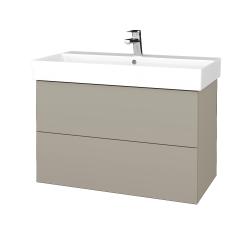 Dřevojas - Koupelnová skříň VARIANTE SZZ2 85 - M05 Béžová mat / M05 Béžová mat (262068)