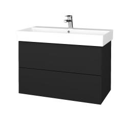 Dřevojas - Koupelnová skříň VARIANTE SZZ2 85 - L03 Antracit vysoký lesk / L03 Antracit vysoký lesk (262082)