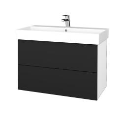Dřevojas - Koupelnová skříň VARIANTE SZZ2 85 - N01 Bílá lesk / L03 Antracit vysoký lesk (262280)