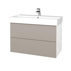 Dřevojas - Koupelnová skříň VARIANTE SZZ2 85 - N01 Bílá lesk / N08 Cosmo (262334)