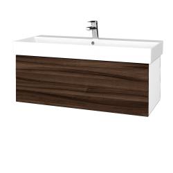 Dřevojas - Koupelnová skříň VARIANTE SZZ 100 - N01 Bílá lesk / D06 Ořech (262655)
