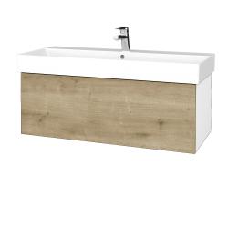 Dřevojas - Koupelnová skříň VARIANTE SZZ 100 - N01 Bílá lesk / D09 Arlington (262679)