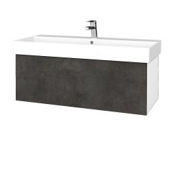 Dřevojas - Koupelnová skříň VARIANTE SZZ 100 - N01 Bílá lesk / D16 Beton tmavý (262709)