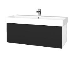 Dřevojas - Koupelnová skříň VARIANTE SZZ 100 - N01 Bílá lesk / L03 Antracit vysoký lesk (262754)